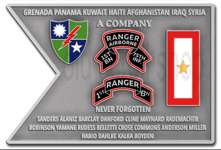 A Company 1st Ranger Battalion Coin